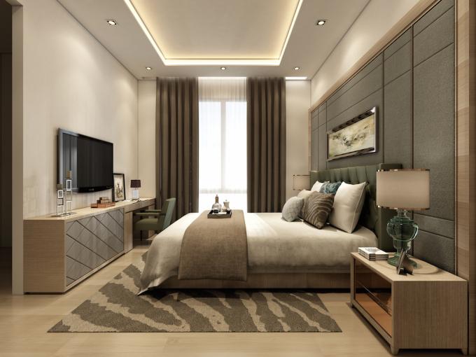 Bên trong căn hộ, hệ thống nội thất sang trọng