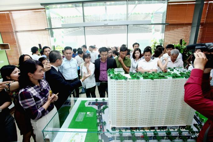 Căn hộ EcoHome Phúc Lợi thu hút rất nhiều khách hàng ở thị trường Long Biên