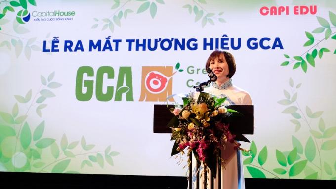 Bà Phan Thị Hải Yến, TGĐ Công ty Capi Edu phát biểu khai mạc buổi lễ