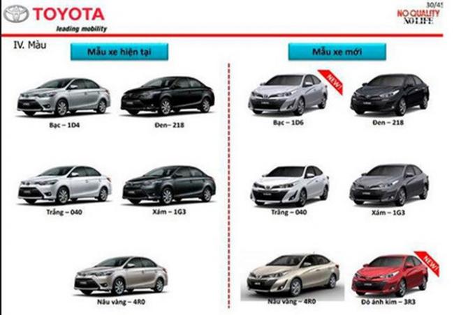 Tài liệu kỹ thuật xe Vios mới của Toyota Việt Nam bị rò rỉ