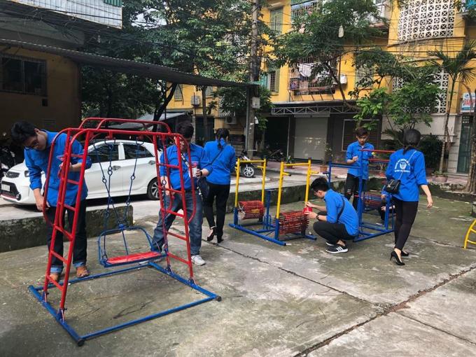 """Đoàn Thanh niên quận tổ chức khánh thành côngtrình """"Sân chơi thiếu nhi"""""""