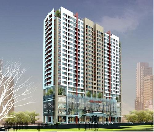 Phối cảnh dự án Tòa nhà trung tâm thương mại và chung cư cao tầng 1283 Giải Phóng