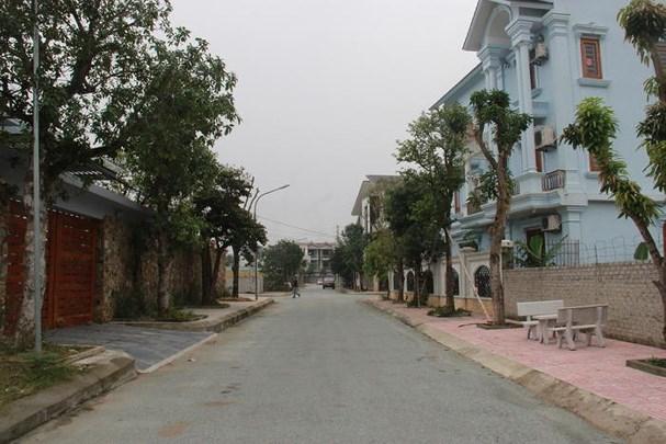 Khu phố mới tại dự án bất động sản do Công ty TNHH Thương mại Minh Khang làm chủ đầu tư. Ảnh: Hoàng Vĩnh