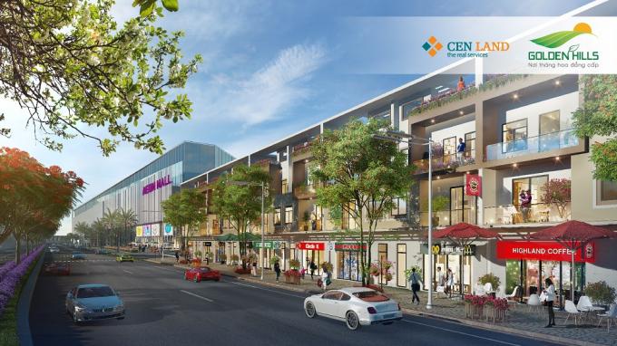Trong tương lai, đây sẽ là khu phố giao thương sầm uất nhất Golden Hills.