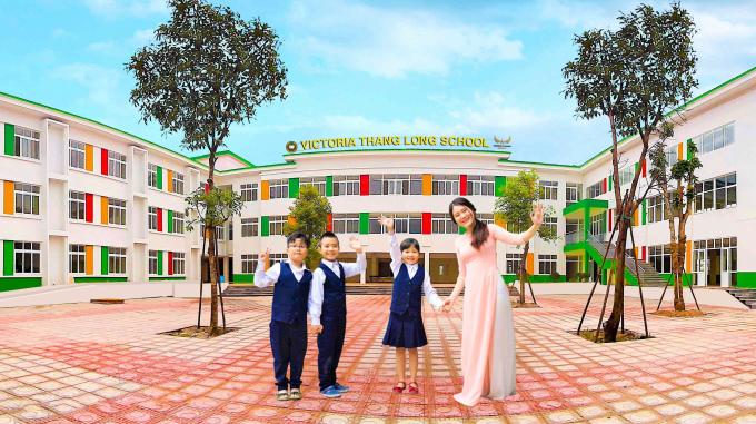 Trường tiểu học và trung học cơ sở Victoria Thăng Long. Nguồn: vicschool.edu.vn