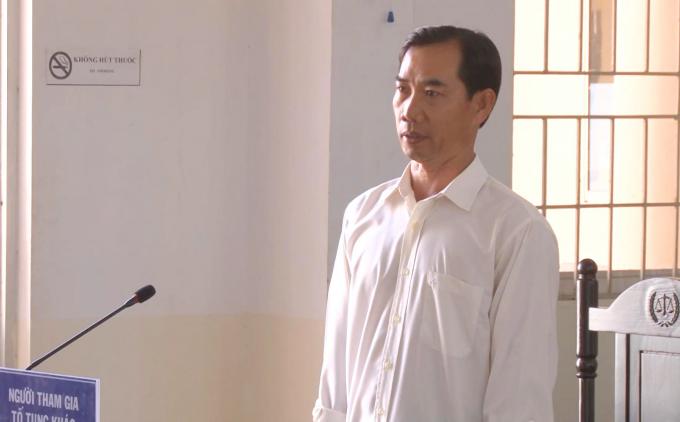 Anh Phan Văn Nghĩa tại phiên tòa