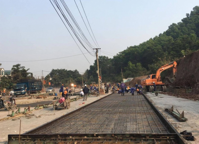 Công ty TNHH BOT Thái Nguyên – Chợ Mới đang xây dựng trạm thu phí đường bộ tại tuyến Quốc lộ 3 cũ