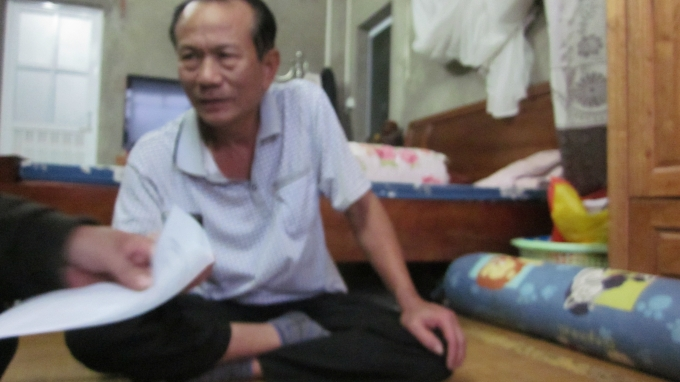 Ông Nguyễn Văn Dũng bố bị can Hùng đang trao đổi với PV