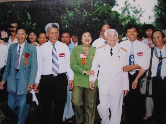 Hạnh phúc lớn nhất cuộc đời bà Liên là được gặp và trò chuyện với Đại tướng Võ Nguyên Giáp.
