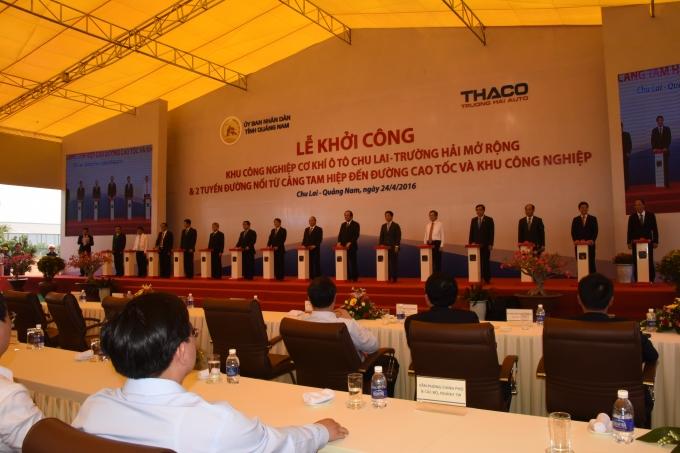 Dự án mở rộng KCN cơ khí ô tô Chu Lai – Trường Hải do Công ty cổ phần ô tô Trường Hải đầu tư với số vốn 749 tỉ đồng.