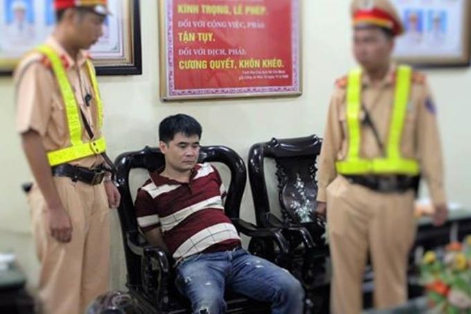 Đối tượng Nguyễn Văn Quý bị bắt giữ.