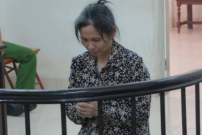 Chử Thị Thược tại phiên tòa xét xử tội giết hại đứa con trai