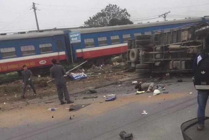 Va chạm đường sắt khiến 1 người tử vong tại chỗ.