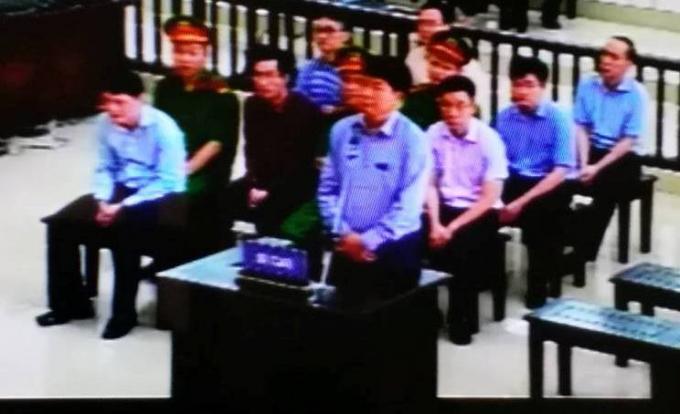 Bị cáo Đinh La Thăng trong phiên xử phúc thẩm.