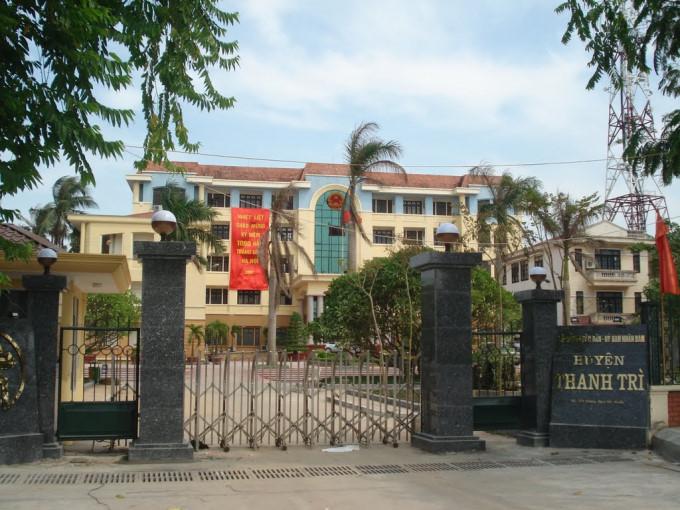 Trụ sở UBND huyện Thanh Trì.