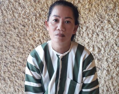 Phạm Thị Hồng Thanh tại trại tạm giữ Công an tỉnh Bà Rịa - Vũng Tàu. (Ảnh: NLD)