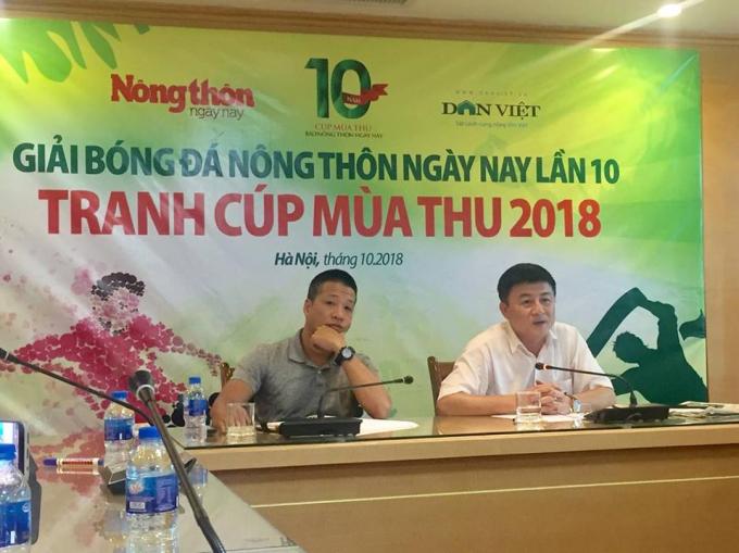 Chiều 15/10, buổi họp báo và bốc thăm vòng bảng Giải bóng đá Báo Nông Thôn Ngày nay tranh cúp Mùa thu lần thứ 10 – 2018.