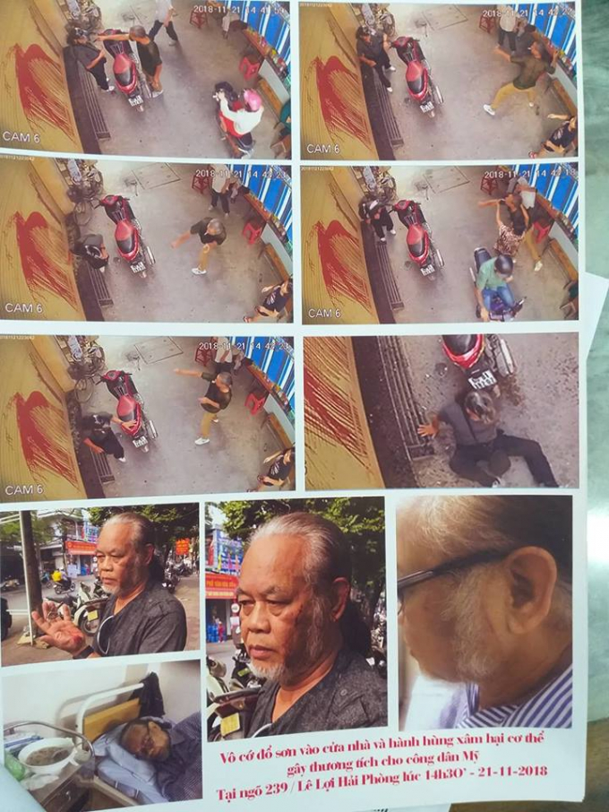 Ông Nguyễn Văn Nam bị hành hung.