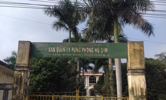 Trụ sở Ban quản lý rừng phòng hộ Sim.