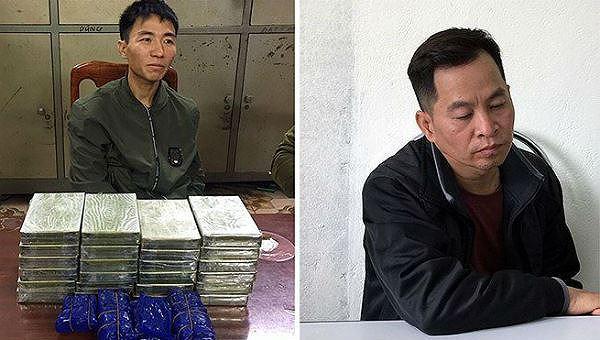 Khà A Sùng và Trần Minh Phương tại cơ quan điều tra.