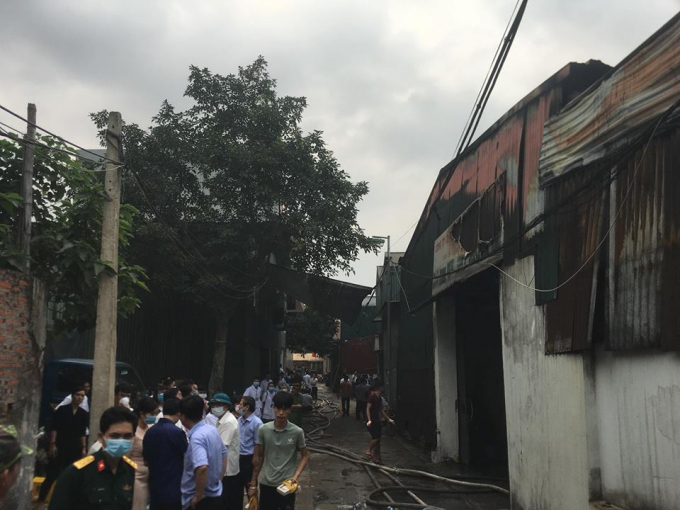 Các nạn nhân đều tử vong trong khu vực xưởng sản xuất thùng nhựa đựng rác của Công ty môi trường 79.