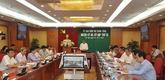 Từ ngày 24 đến 26/4/2019, tại Hà Nội, Ủy ban Kiểm tra Trung ương đã họp kỳ 35.