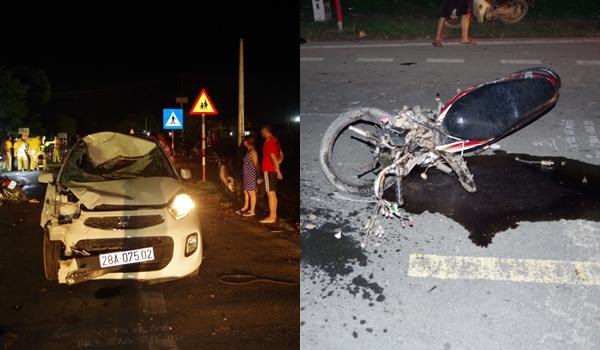 Vụ tai nạn giao thông khiến 2 người đi xe máy tử vong.