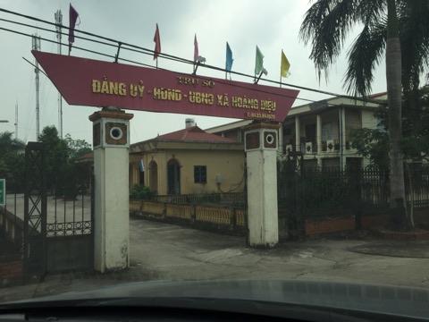 Trụ sở UBND xã Hoàng Diệu.