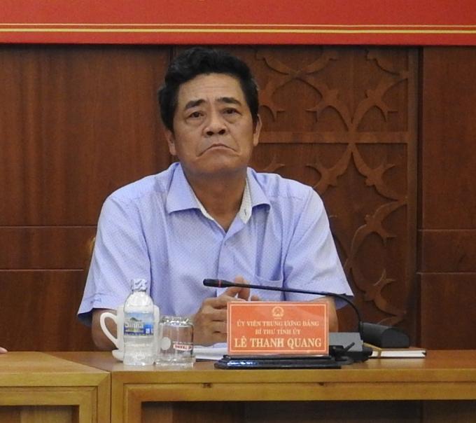 Ông Lê Thanh Quang, Bí thư Tỉnh ủy Khánh Hòa. Ảnh: Đại đoàn kết