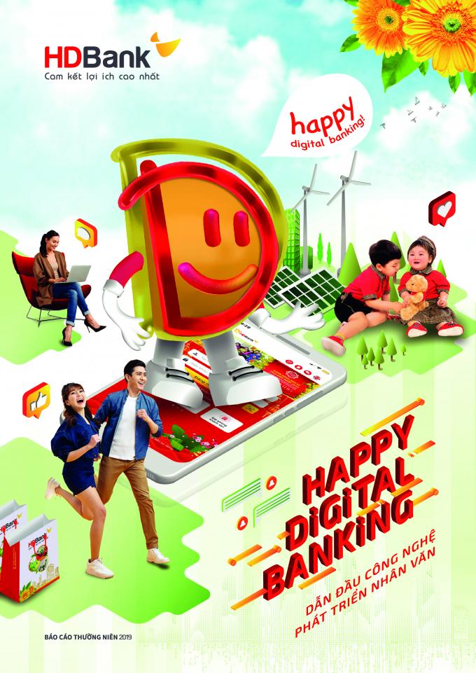 """Báo cáo thường niên 2019, HDBank định hướng phát triển """"Happy Digital Ban"""