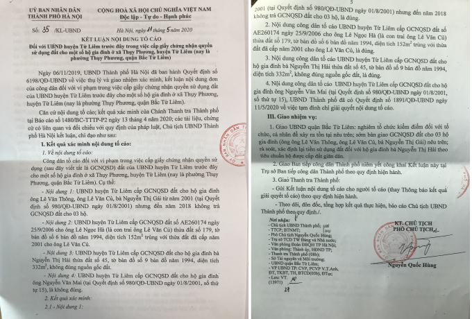 Ket luan so 35 ngay 11-5-2020 cua Chu tich UBND Tp Ha Noi