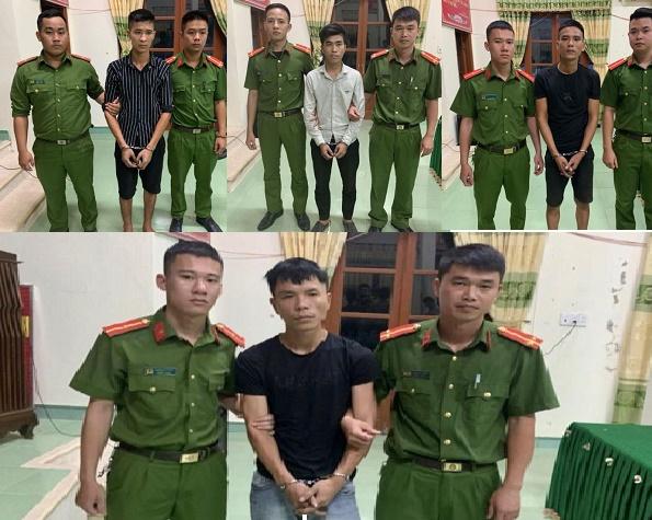 Nhóm đối tượng bị công an bắt giữ