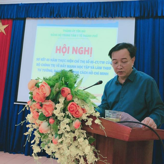 Ông Nguyễn Trường Giang - Giám đốc Trung tâm y tế TP Yên Bái. Ảnh: TTYT TP Yên Bái