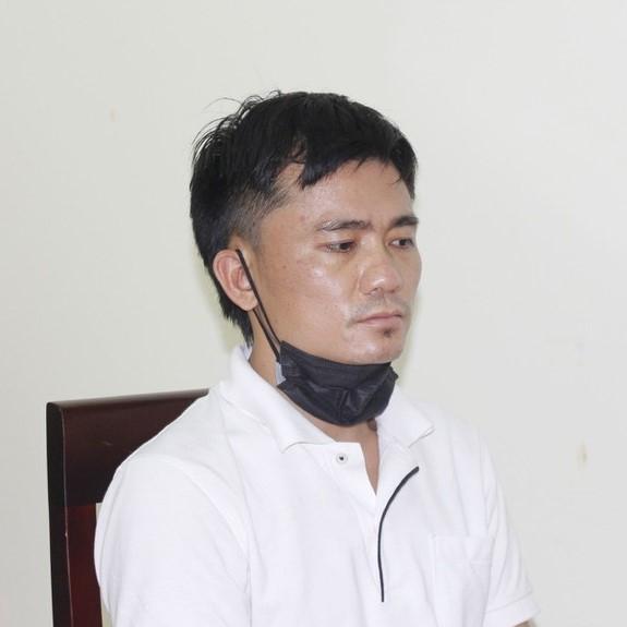 Đối tượng Nguyễn Văn Tuấn tại Cơ quan CSĐT - ảnh CANA