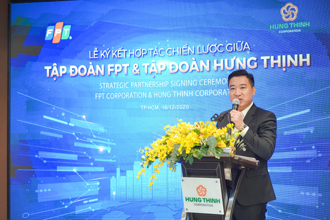 Ông Nguyễn Đình Trung phát biểu tại buổi lễ
