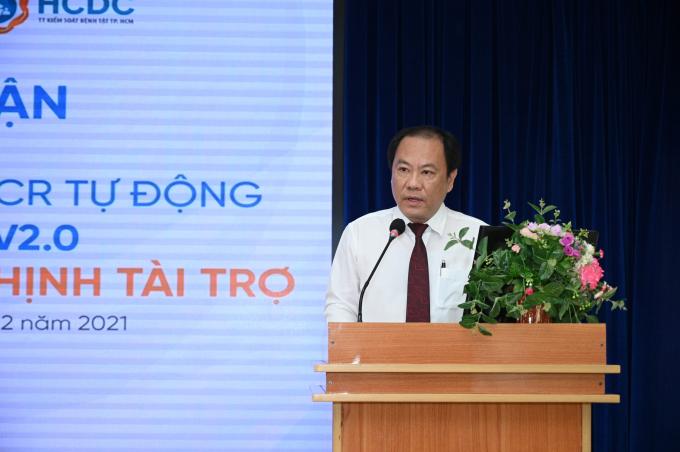 Bác sĩ Nguyễn Hoài Nam bày tỏ lời cảm ơn đến Tập đoàn Hưng Thịnh  vì đã chung tay cùng Thành phố và ngành Y tế trong công tác phòng, chống dịch Covid-19