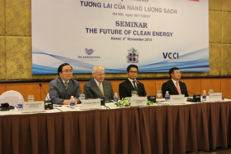 Đại diện lãnh đạo hai nước Việt Nam và Iceland tại Hội thảo (Ảnh: NP)