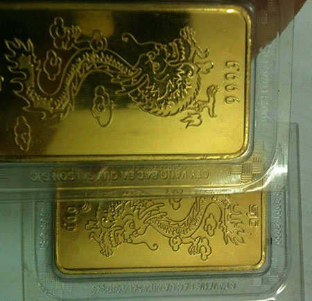 Loại vàng giả mới xuất hiện trên thị trường có thể