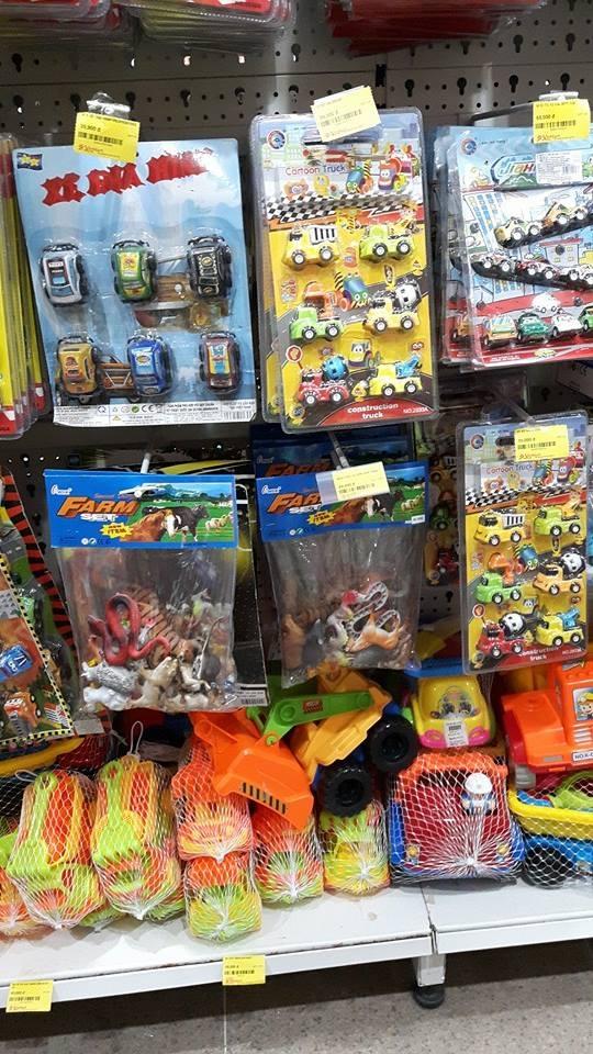 Hơn 90% đồ chơi của trẻ em có xuất xứ từ Trung Quốc.