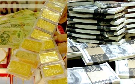 Ngày 19/1, giá vàng và USD đều giảm mạnh (Ảnh minh họa)