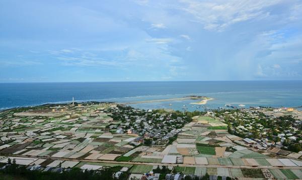 Ảnh chụp một khu vực trên đảo Lý Sơn.