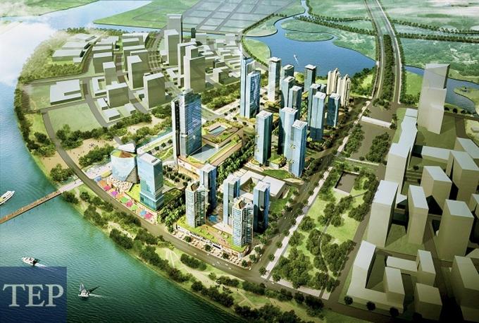 Phối cảnh dự ánEco Smart City.