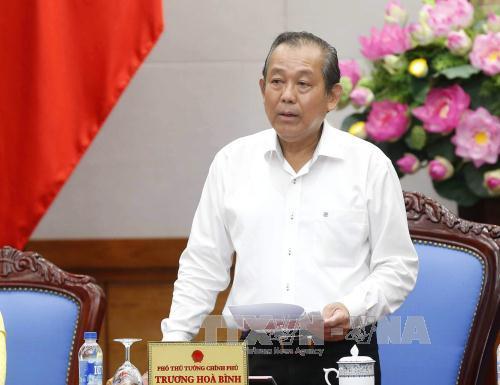 Phó Thủ tướng Chính phủ Trương Hòa Bình (Ảnh nguồn TTXVN).