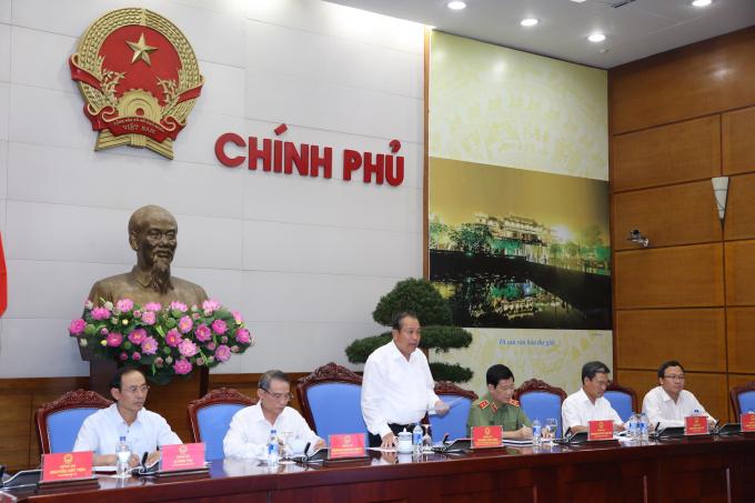 Phó Thủ tướng Trương Hòa Bình chủ trì Hội nghị về an toàn giao thông.