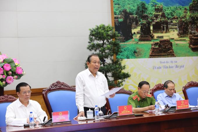 Phó Thủ tướng Thường trực Chính phủ Trương Hòa Bình, Trưởng BCĐ 389 quốc gia tại hội nghị.