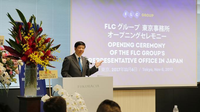 Đại sứ đặc mệnh toàn quyền Việt Nam tại Nhật Bản - ông Nguyễn Quốc Cường đánh giá Tập đoàn FLC hiện là một trong những tập đoàn bất động sản nghỉ dưỡng hàng đầu Việt Nam.
