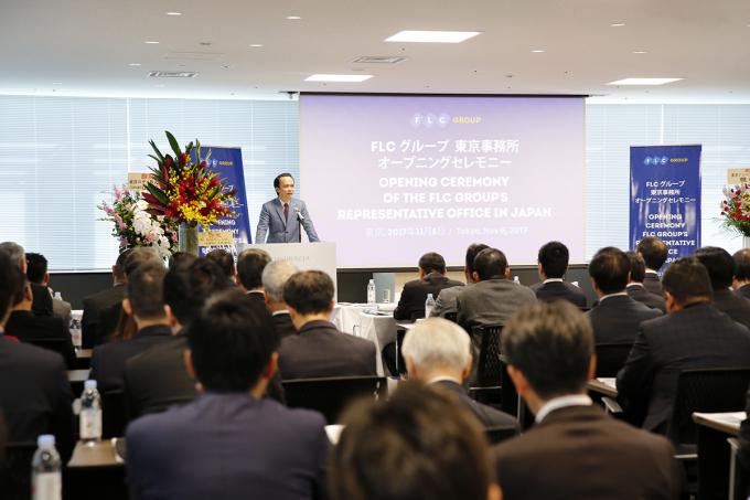 Ông Trịnh Văn Quyết, Chủ tịch HĐQT Tập đoàn FLC, phát biểu tại sự kiện.