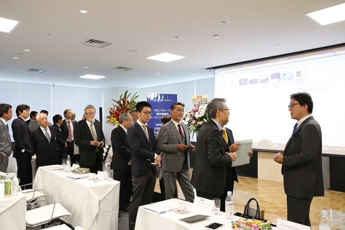 Sau lễ khai trương, ban lãnh đạo FLC đã tiếp xúc và trao đổi với nhiều đối tác quan tâm trong lĩnh vực y tế và nông nghiệp của Nhật Bản.