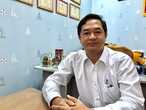 Ông Nguyễn Thanh Thống, đại diện Hội đồng quản trị Trường phổ thông Thái Bình Dương. (Ảnh Đình Tuyến).