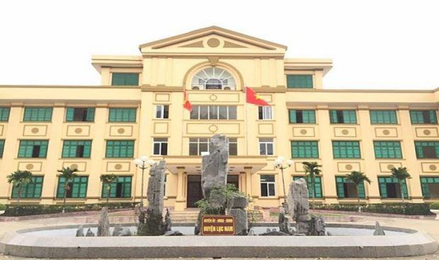 Trụ sở UBND huyện Lục Nam tỉnh Bắc Giang.